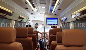 11 seater deluxe 1x1 tempo traveller