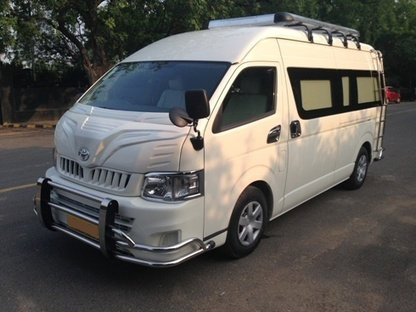 toyota hiace imported van hire india